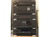 akai Music system functional and with manuals and speakers