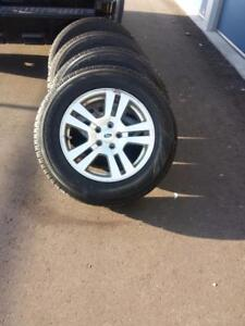 FORD EDGE  HIGH PERFORMANCE PIRELLI SCORPIAN ICE & SNOW WINTER TIRES 235 / 65 / 17 ON FORD OEM ALLOY RIMS