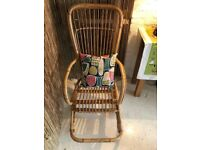 Stunning Vintage Franco Albini Style Cane/ Wicker Rocking Chair, MCM, Retro, 50s/60s