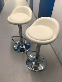 2 top quality Eco leather bar stools