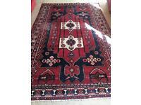 Vintage Handmade Large Persian Rug   10ft x 6ft   Iranian Made