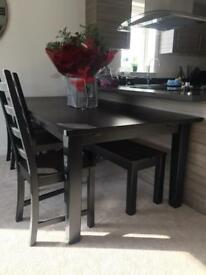 Ikea dining table with bench and chairs