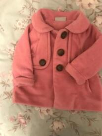 Girls pink next winter coat 9-12 momths