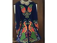 Lovely orange and blue heavyweight embroidered dress