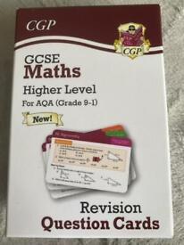 GCSE maths higher level question cards