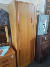 1950s G Plan Brandon Gents Single Wardrobe. Rare Design. Vintage/Retro/Mid Century.