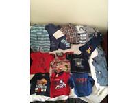 16 items Bundle of boys clothes, 6-9 months