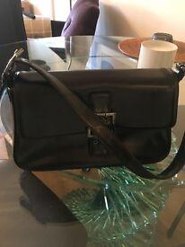 Russell and Bromley Bag, black calf leather handbag