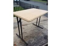 Folding caravan table