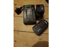 festool batteries plus charger
