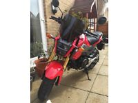 Honda MSX 125 (2017) GROM Red. Excellent Condition