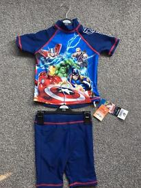 BNWT 2-3 years swim top & shorts