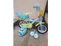 "Children's bike 12"" Halfords Apollo. Comes with matching helmet. Can put stabilisers on of leave off"