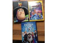 3 Disney dvds one new and sealed