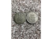 2 one shilling coins