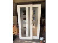White full glaze internal doors 30 inches