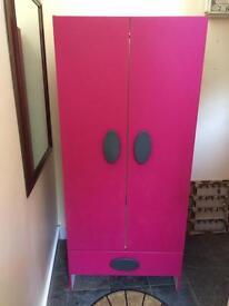 Girl's pink wardrobe