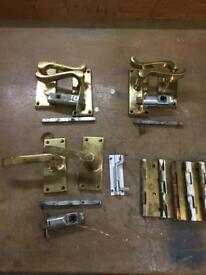 Job Lot of hinges/door locks and catches - used