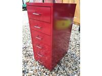 Small filing cabinet IKEA red draws