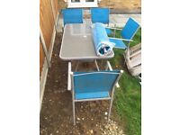 Garden Table and Chairs. Pick up only from Billericay