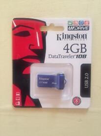 BRAAND NEW USB DRIVE KINGSTON 4GB