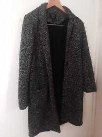 Bershka grey coat size xs