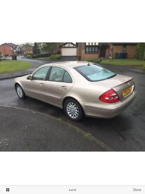 MercedesEclass 2003 with only 53000 genuine miles for sale