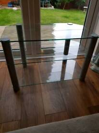 **Great Condition Glass TV Unit**