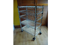 industrial catering trolley Chrome Wire Kitchen Storage Unit