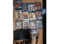 PS2 with several games