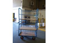 3 Tier Distribution Trolley Blue