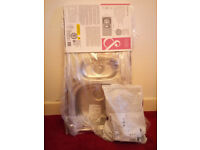 Brand new stainless steel 1.5 bowl kitchen sink with waste kit to fit, never used