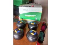 Drakes Pride Professional Gripped Bowls size 3 heavy Black with Prohawk bag