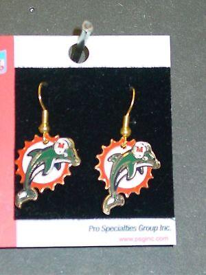 NFL Team Logo Earrings, Miami Dolphins, NEW