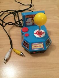 'RETRO' MS PAC-MAN TV GAMES CONSOLE (NAMCO) +other games built in.