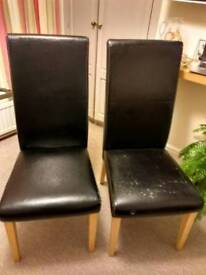 Leather effect chairs