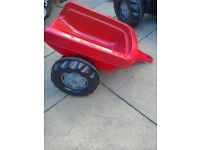 Toy pedal tractor and trailer