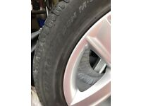 """Audi A5 Winter wheel set. 17"""" alloy rims in immaculate condition. Tyres have 4mm tread depth."""