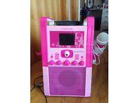 Girls pink karaoke machine