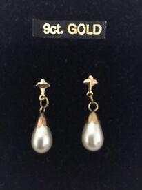 9ct gold earrings, Brand new