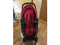 Graco travel system - buggy and carrycot - red