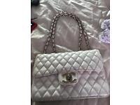 White leather et bag