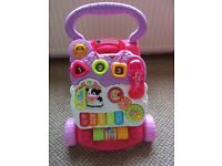 V-Tech baby walker Pink