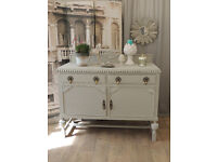 Shabby chic solid oak sideboard by Eclectivo