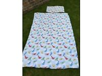 Feather & Black planes and clouds Kids single duvet cover and pillow case (two sets available)