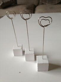 30 White Picture/Placecard Holders