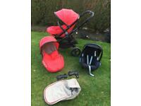 Icandy peach double Pushchair with extras