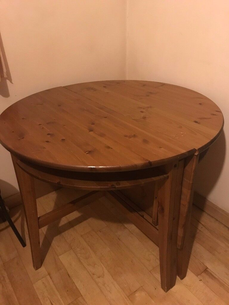 Solid Pine Round Oval Drop Leaf Extendable Dining Table