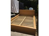 Malm double bed frame and slats