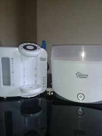 Tommee tippee perfect prep machine and steam steriliser